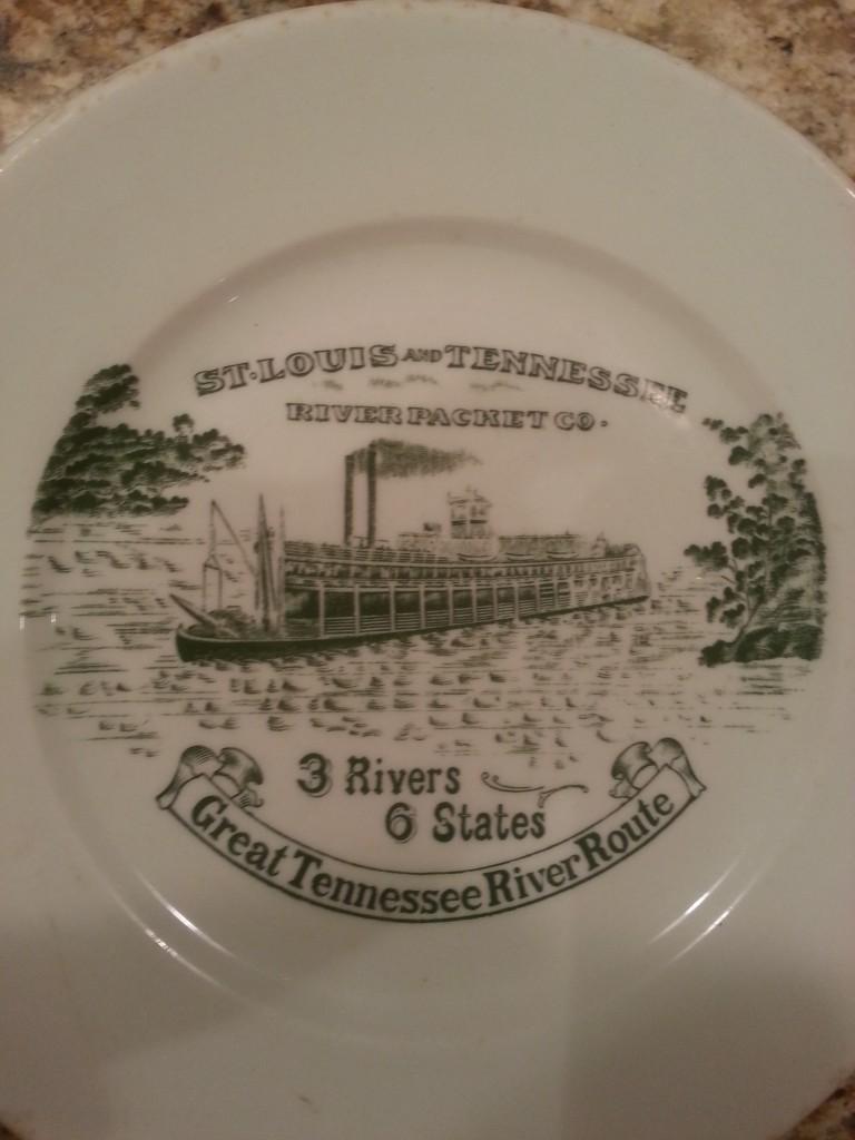 St. Louis Tenn River Packet Co plate