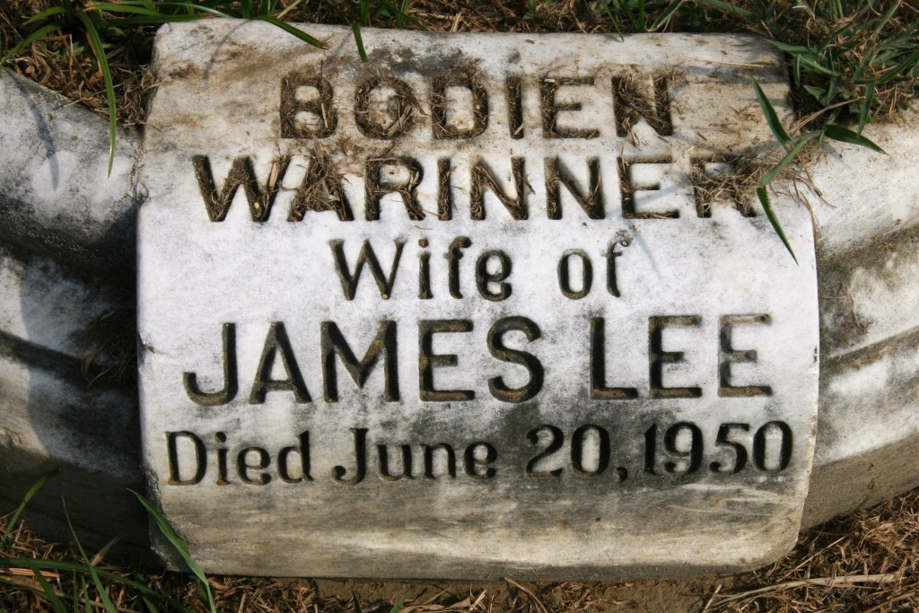 Bodine Warinner wife of James Lee 3rd Elmwood Cemetery Memphis, TN