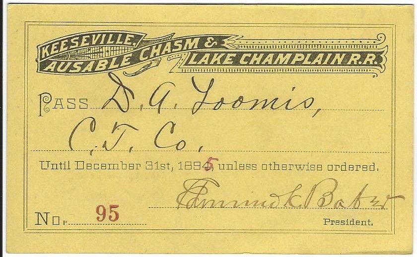 D A Loomis 1895