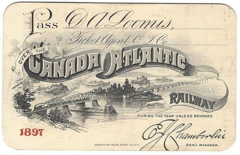 D A Loomis 1897 Canadian RR
