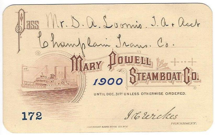 D A Loomis 1900