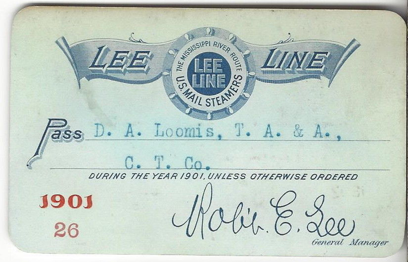 1901 Lee Line pass