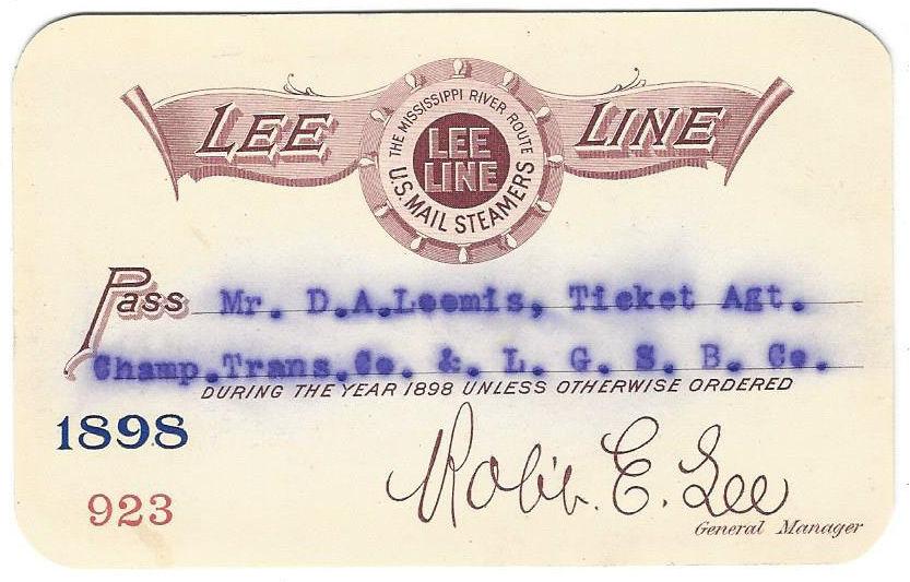 1898 Lee Line pass