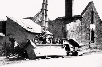 Wrecked armored personnel carrier 8 1 1944